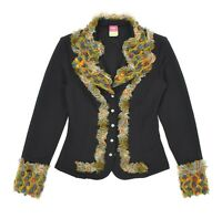 Womens Save The Queen Quirky Style Blazer Jacket Nylon Cardigan Size S