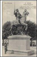 Dinan France Frankreich CPA ~1910/20 Statue de Duguesclin Denkmal Reiter Pferd