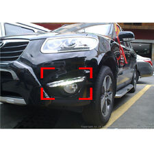 LED Day Light Fog Lamp Cover 2p 1Set For 10 11 12 Hyundai Santa Fe The Style
