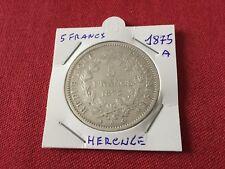 5 F en argent Hercule 1875 A TTB