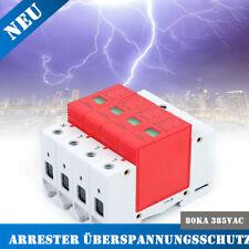 80KA House Surge Protective Low-voltage Arrester Device 4pole PC Flame retardant