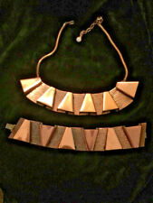Rebajes Mid Century Copper Matching Bracelet And Necklace Modernist Abstract