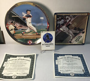 Lot of 2 legends of baseball limited edition bradford exc Mays and williams Jlg2