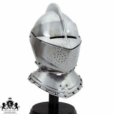 Armor Helmet English Close Helm 18 Gauge Medieval Knight Collectible Reenactment