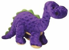 goDog Dinos Bruto With Chew Guard Technology Tough Plush Dog Toy Purple Large