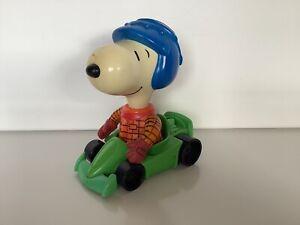 McDonalds Peanuts Snoopy In Racing Car Figure