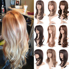 Thick Brown Long Hair Full Wigs Natural Party Cosplay Synthetic Wig for Women KD