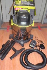 RYOBI ONE+ PWV200 18V Wet/Dry Vacuum 4.75 Gallon Shop Vac W/ Battery/Charger
