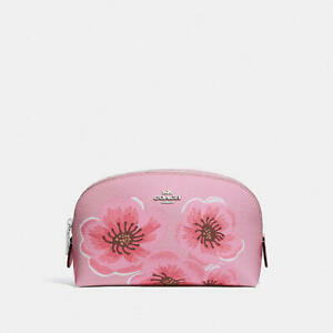 COACH Cosmetic Case 17 with Sakura Blossom Print Japan Limited