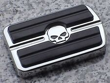 Harley Davidson Softail Dyna Electra Glide CHROME SKULL REAR BRAKE PEDAL COVER