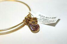 Alex and Ani Teardrop June Birthstone Rafaelian Gold Bangle Light Amethyst NWT