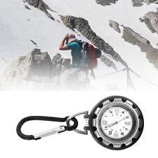 Outdoor Luminous Glow in Dark Sports Carabiner Clip on Belt Watches Fob Watch