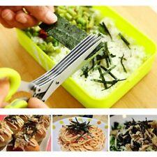 Kitchen Knives Tool 5 Layers Scissors Sushi Vegetable Shredder Scallion Scissor