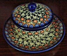 Polish Pottery Covered bowl & plate Unikat 75 Anna Pasierbiewicz 3/42