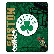 "Boston Celtics Licensed Fleece Throw Blanket 50""x 60"" Basketball League"