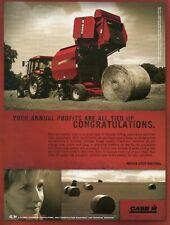 2004 Print Ad of Case IH International Harvester Farm Tractor RBX452 Hay Baler