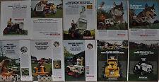 1967-73 BOLENS Lawn Tractor advertisements x10, Bolens Husky, Arnold Palmer etc