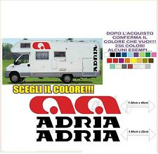 kit adesivi stickers compatibili camper adria