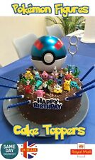 Cake Toppers Pocket Monster 24 Mini Figures With Pikachu Toy Kids UK Seller