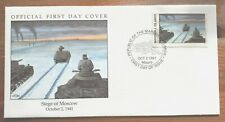 1991 Marshall Islands Stamp FDC - Siege Of Moscow 2/10/41 - WW2