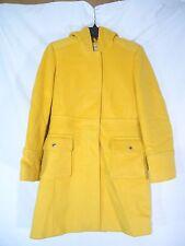 Michael Michael Kors Yellow Hooded Long Sleeve Wool Coat Size 4