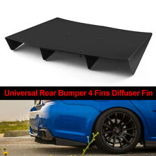 "22"" x 21"" ABS Black Universal Rear Bumper 4 Fins Diffuser Fin For Honda Acura"