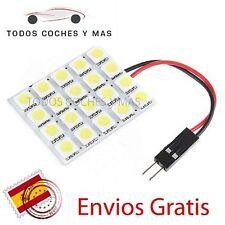 BOMBILLAS LED PANEL DE 20 LED SMD 5050 COCHE T10 BA9S C5W FESTOON DOME INTERIOR