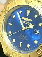 Invicta Men's Watch 29947 Pro Diver Quartz Blue Dial Gold Tone Stainless Steel