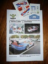 DECAL 1: 43 - PORSCHE 911 GT - ROUILLARD - RALLYE DES CEVENNES 2011 (no IXO)