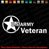 From USA- US ARMY VETERAN/Car/Window/laptop Vinyl Decal Sticker Die-Cut AY007
