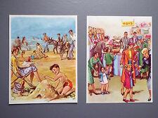 R&L Ex-Mag/Book Vintage Picture x2 1950's Children, Ladybird Style Toyshop Beach