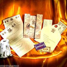 Harry Potter PERSONALISED Hogwarts Acceptance Letter, + Marauders Map