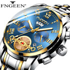 Mens Watches Date Quartz Wrist Watch Stainless Steel Gift Men Fathers Day Gift