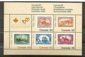 Canada 1982 Canada 82 Philatelic Youth Exhibition miniature sheet SG MS 1042 MNH