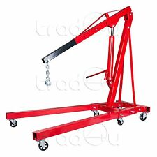 2T Heavy Duty Hydraulic Workshop Folding Engine Crane Stand Hoist lift  New