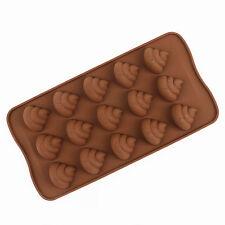 3d Cartoon Poo Poo Silicone Chocolate Mould Sugarcraft DIY cake mold Party Prank