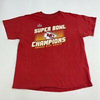 Fanatics T-Shirt Mens XL Red Crew Neck Kansas City Chiefs Super Bowl Champions