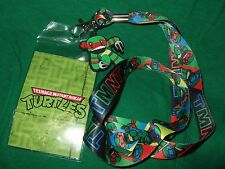 NEW The Teenage Mutant Ninja Turtles TMNT Cartoon Lanyard ID Pin Holder & Charm