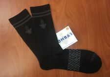 Bombas Performance Blend Black Crew Socks L ~NIP~