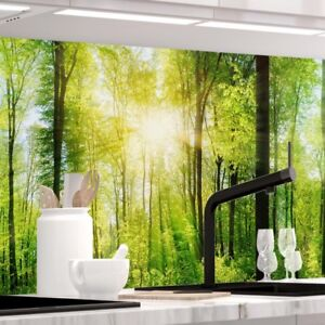 Küchenrückwand - WALD - 1.5mm Hart-Material, jeder Untergrund ist möglich
