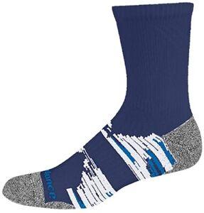 New Balance Unisex 186592 1 Pack Trail Running Short Crew Socks Navy/Blue Size L