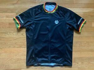 Bontrager Trek RL Mens Cycling Jersey Sz XXL Black Paw Yellow Black Green Red