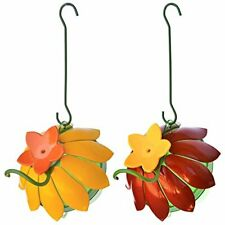 New listing Wild Wings Wwsfhf5 So Real Single Flower Hummingbird Feeder Red/Yellow 2-Pack