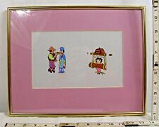 Betty Boop Original Animation Cell In Peril With Cowboy And Criminal Characters