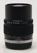 Olympus OM system 135mm f/3.5 E.Zuiko Auto-T manual focus lens EXC