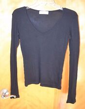 Juicy Couture for Scoop Long Sleeve Top Size L 100% cotton black
