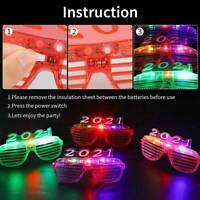 2021 Glasses Light Up Grow LED Glasses Eyeglasses Shutter Glasses Party Supplies