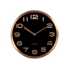 Karlsson Clock - Maxie Design, Black and copper Wall clock. Home. Gift