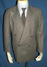 Men's Giorgio Armani Gray Stripe Double Breasted 100% Cashmere Sport Coat 40/41