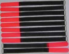 10 x Kabelklettband 30 cm x 20 mm SO neon rot Klettband Klett Kabel Binder Band